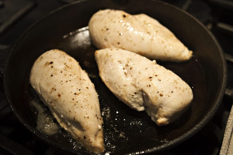 How to cook moist and tender chicken breasts in 3 easy steps allow the chicken to rest for five minutes this step is important as it allows the meat fibers to reabsorb some of the moisture they lost during cooking ccuart Choice Image